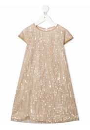 Señorita Lemoniez sequin-embellished organic-cotton dress - Oro