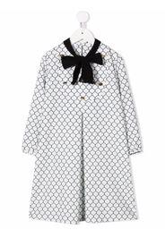 Señorita Lemoniez tie-fastening long-sleeved dress - Bianco