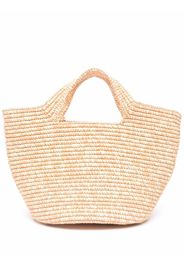 Sensi Studio woven straw tote bag - Rosa