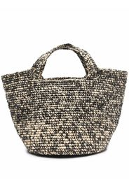 Sensi Studio straw beach bag - Toni neutri