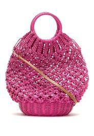 Bolsa de crochet de palha