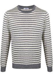 striped crew-neck jumper