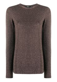 metallic knitted top