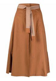 Seventy belted A-line skirt - Marrone
