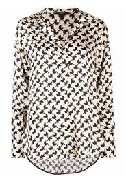 Seventy geometric-print long-sleeve shirt - Toni neutri