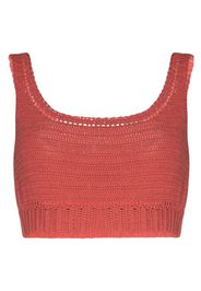 Indra crocheted cotton crop top