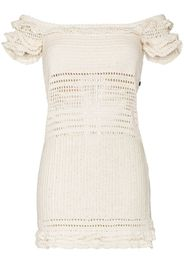 Saachi ruffled crochet mini dress