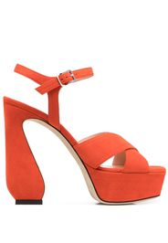 Si Rossi siede platform sandals - Arancione