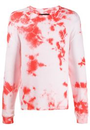 long sleeve tie-dye sweatshirt