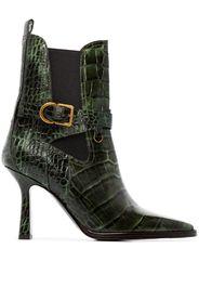 Naomy 90mm crocodile-effect boots