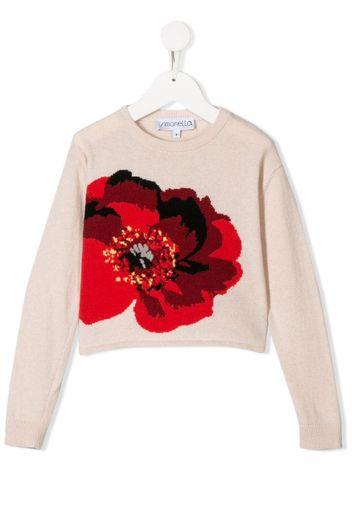 Maglione a fiori