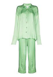 full-length satin pyjamas