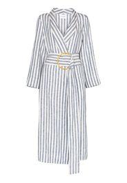 ruled robe dress