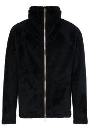 fleece zip-front jacket