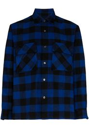 check pattern button-down shirt