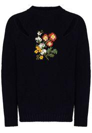 Slash floral-embroidered jumper