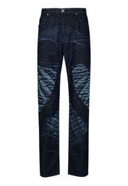 etched denim jeans