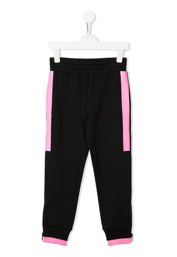 Pantaloni sportivi con righe a contrasto