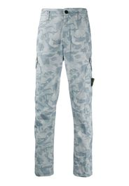 camouflage print cargo trousers