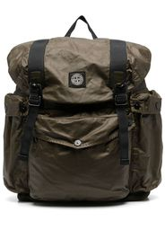 Stone Island logo-patch buckled backpack - Verde