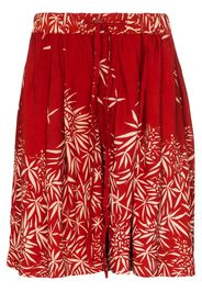 leaf pattern bridge shorts