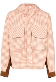Forager gingham print cotton jacket