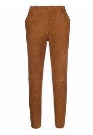 Stouls Pantaloni skinny crop - Marrone