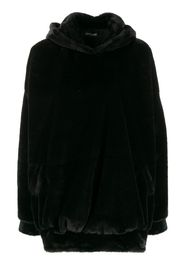 faux fur oversized hoodie