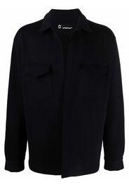 Styland logo-embroidered shirt jacket - Nero