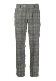 high rise houndstooth trousers