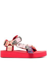 buckle-embellished flatform sandals