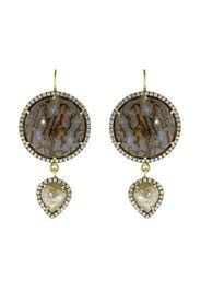 18kt yellow gold rough diamond drop earrings