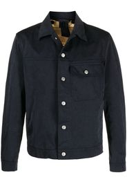 Ten C cotton button-down jacket - Blu