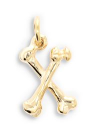 The Great Frog 18kt yellow gold Alphabones Letter X pendant - Oro