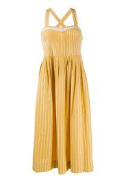pinstripe midi dress