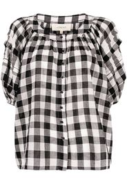 The Great. The Carriage gingham blouse - Nero