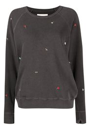 The Great. floral-embroidered sweatshirt - Nero