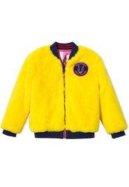 reversible faux fur bomber jacket