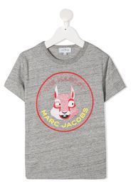 The Marc Jacobs Kids T-shirt The Mascot con stampa - Grigio