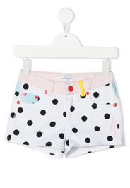 The Marc Jacobs Kids Shorts a pois - Bianco