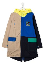 The Marc Jacobs Kids Cappotto imbottito con design color-block - Blu