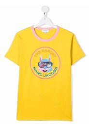 The Marc Jacobs Kids TEEN The Mascot rabbit-print T-shirt - Giallo