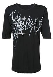 The Viridi-Anne printed jersey T-shirt - Nero