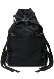 crinkle effect buckle detail backpack