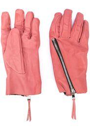 zip detail textured gloves