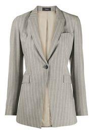 wool blend striped blazer
