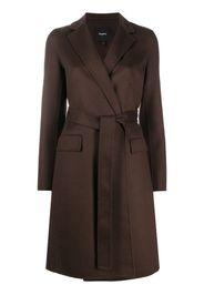 tie-waist long-sleeved coat