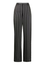 chain print wide-leg trousers