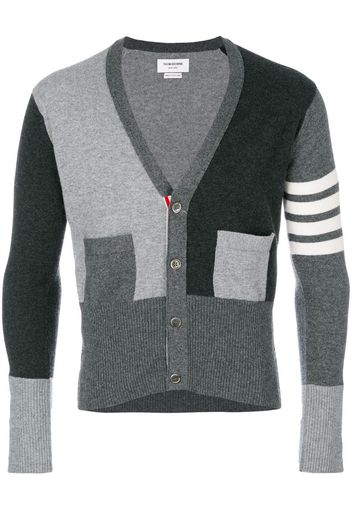 fitted waist v-neck cardigan