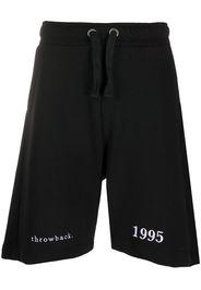 Shorts sportivi con ricamo